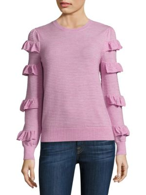Ruffle Wool Sweater