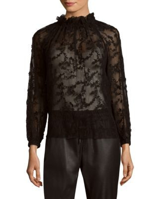 Long-Sleeve Ellie Embroidery Top