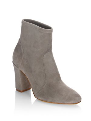 Leather Block Heel Booties