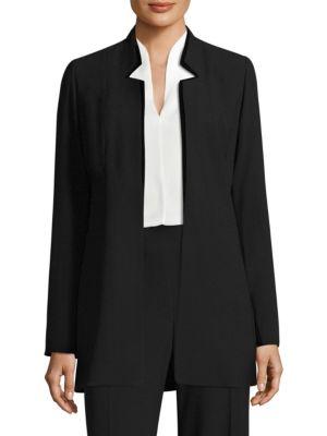Maclaine Open Front Velvet Jacket