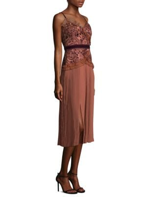 Klick Embroidered Lace Shift Dress