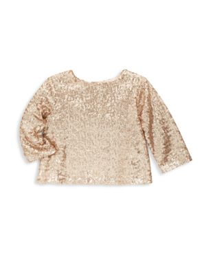 Toddler's, Little Girl's & Girl's Sequin Long Sleeve Top