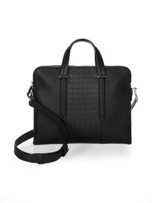 Gancio Soft Leather Briefcase