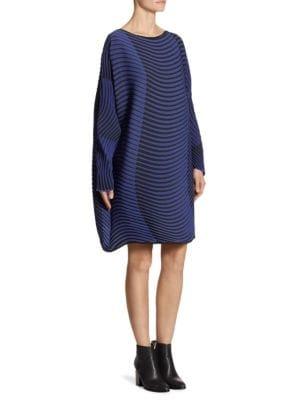 Short Wave-Print Dress