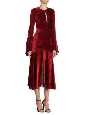 Velvet Dot Dress