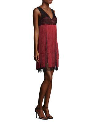 Fringe V-Neck Dress