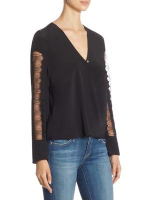 Long-Sleeve Silk Blouse by 3.1 Phillip Lim