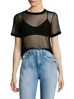 Mesh See-Through Tee