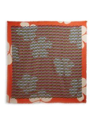 DRIES VAN NOTEN Geometric-Print Wool Scarf
