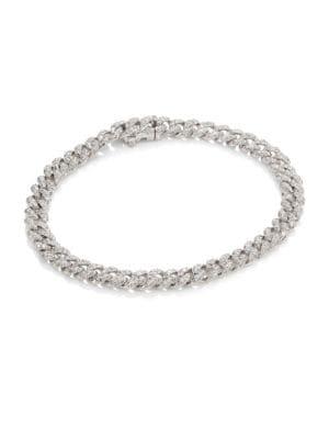 Essentials Mini Pave Diamond Link Bracelet