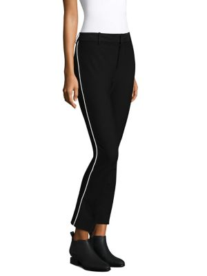 Cropped Flare Stripe Pants