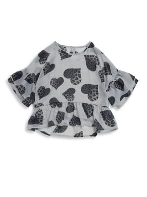 Girl's Hi-Lo Cheetah Blouse