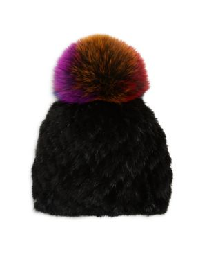 Hollywood Fur Pom-Pom Hat