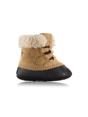 Baby Boy's Leather Shearling Caribootie