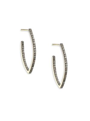 NINA GILIN Diamond Hoop Earrings