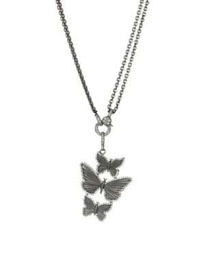 NINA GILIN Diamond Butterflies Pendant Necklace