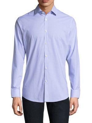 Tattersall Cotton Button-Down Shirt