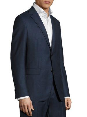 Sharkskin Slim-Fit Sportcoat