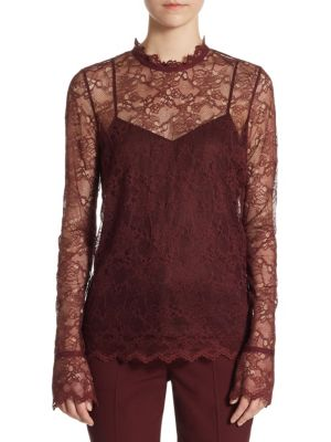 Overlay Floral Lace Top