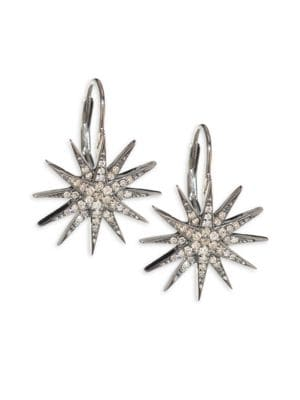 NINA GILIN Diamond Starburst Earrings