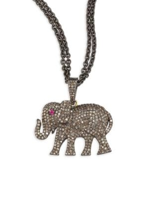NINA GILIN Diamond Elephant Pendant