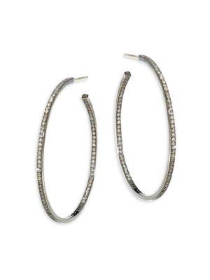 Diamond Pavé Hoop Earrings/2