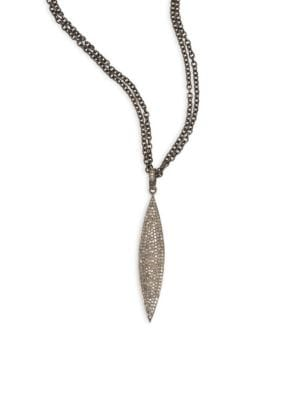NINA GILIN Diamond Marquis Pendant Necklace