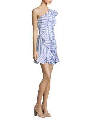 O'Keeffe Striped One-Shoulder Dress