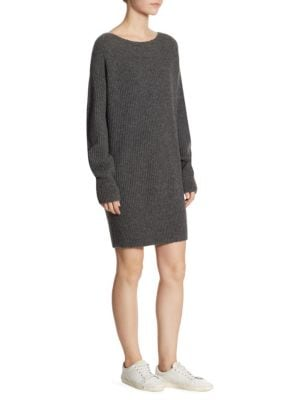 Rib-Knit Cocoon Dress