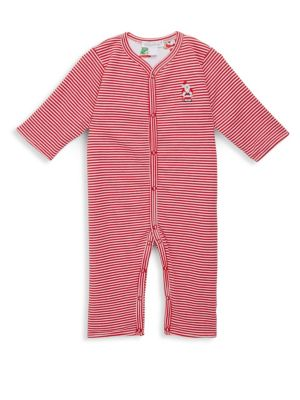 Baby's Santa Helpers Cotton Playsuit