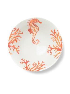 Costiera Coral Seahorse Medium Serving Bowl