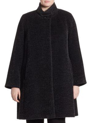 Single Button Princess Coat by Cinzia Rocca, Plus Size