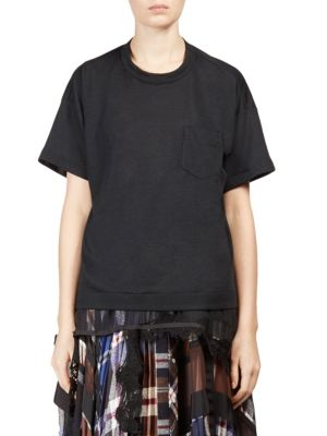 Jersey Lace Tee by Sacai