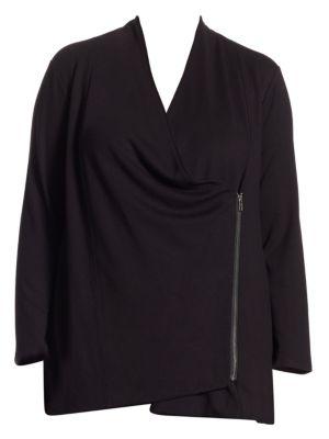 Plus Long-Sleeve Studio Jacket