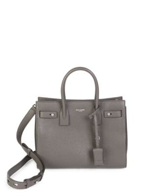 Baby Soft Grained Leather Silver Hardware Sac De Jour