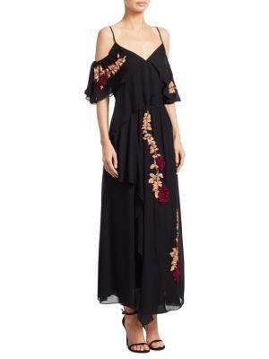 Wisteria Sequins Lorena Silk Maxi Dress