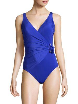 GOTTEX SWIM Grace Kelly Surplice Swimsuit