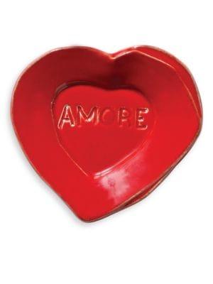 Lastra Heart Mini Amore Stoneware Plate
