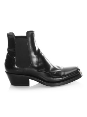 Claire Leather Booties by Calvin Klein 205 W39 Nyc