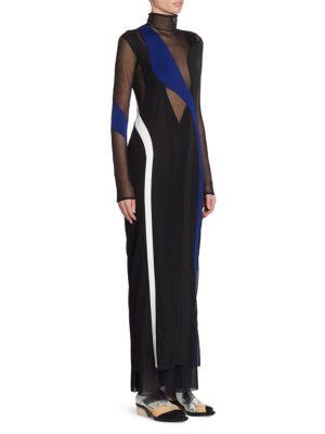 Sheer Turtleneck Dress