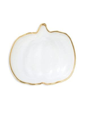 Alabaster Small Pumpkin Plate