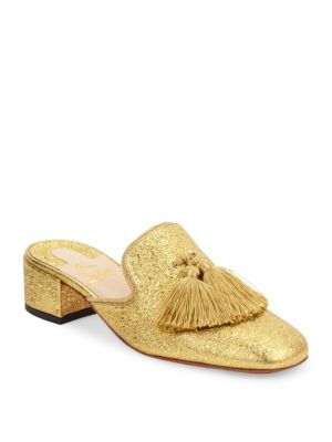 Barry Metallic Leather Mules