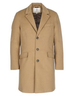 Quilted Camel Topcoat
