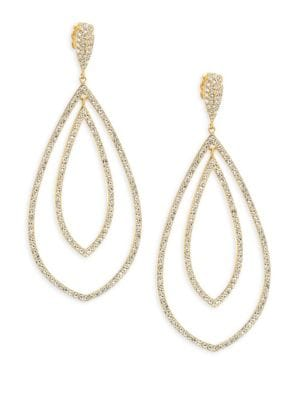 18K Yellow Gold Double Drop Earrings