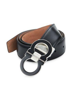Adjustable Gancini Buckle Belt