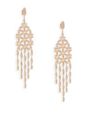 Anise Rose Gold-Plated Chandelier Earrings