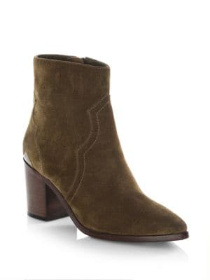 Suede Point Toe Booties