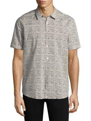 Printed Cotton Casual Button-Down Shirt