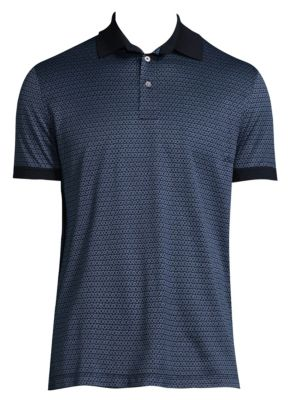 Printed Cotton Polo