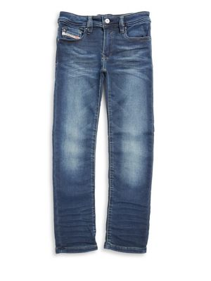 Toddler's, Little Boy's & Boy's Cotton-Blend Five-Pocket Denim Pants